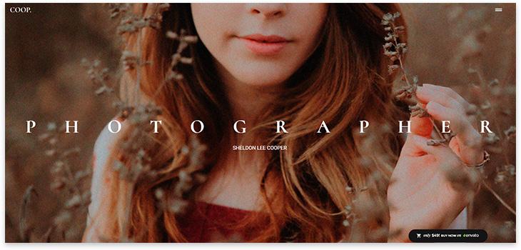 Шаблон сайта фотографа