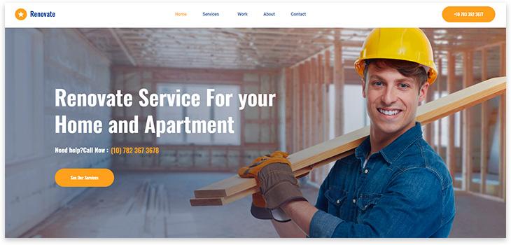 Шаблон сайта про ремонт