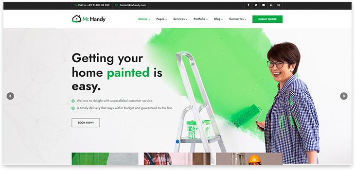 Тема для веб сайта по ремонту