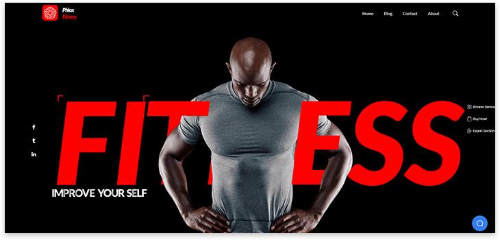 Шаблон фитнеса