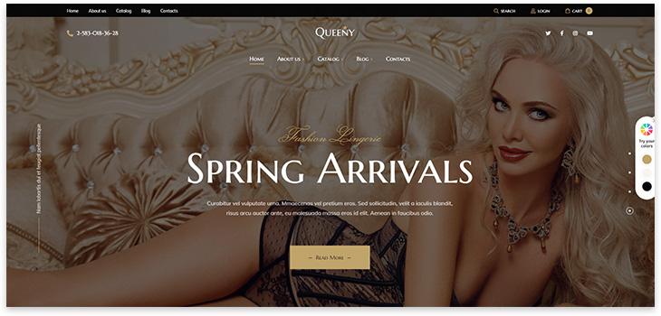 Шаблон сайта магазина нижнего белья
