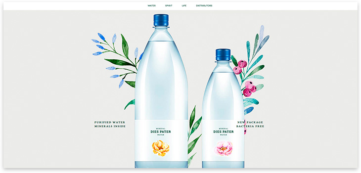Шаблон сайта продажи воды