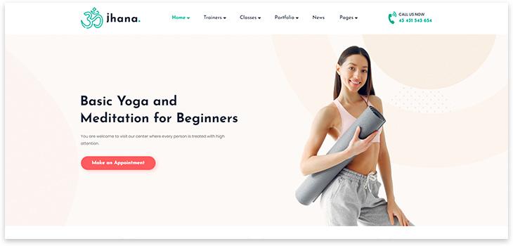 Шаблон сайта йога