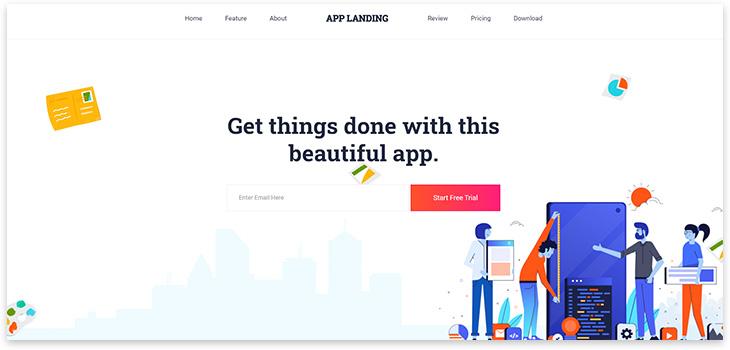 Шаблон сайта приложения app