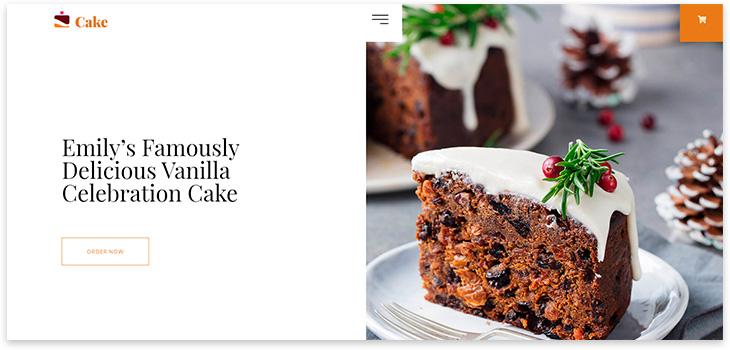 Шаблон сайта пекарни 2021