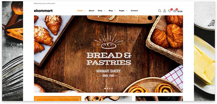 Шаблон сайта пекарни