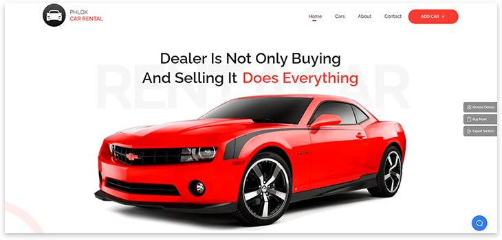 Шаблон сайта продажи автомобилей