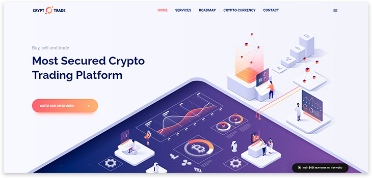 Шаблон сайта криптовалюты