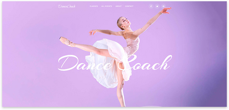 Шаблон сайта танцевальной студии