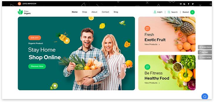 Шаблон сайта эко продуктов