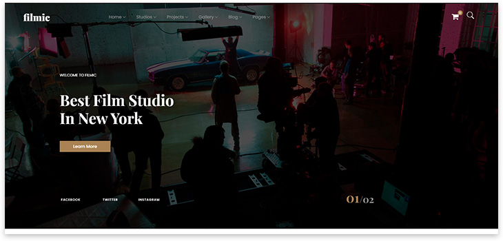 Шаблон сайта киностудии