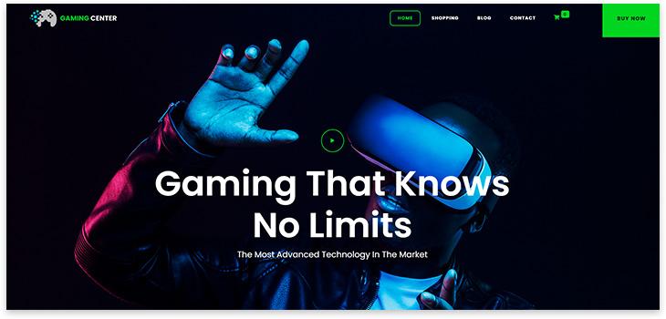 Шаблон игрового сайта
