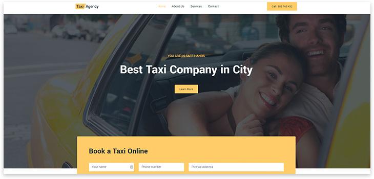 Шаблон сайта заказа такси