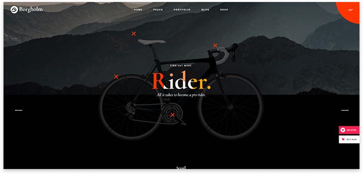 Шаблон сайта велосипед магазин