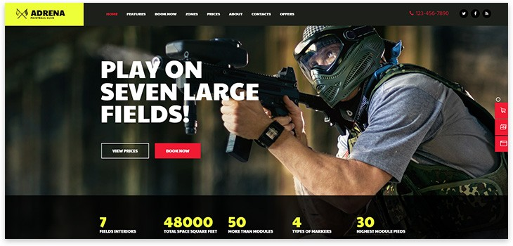 paintball theme site