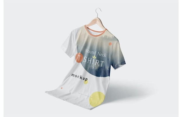 Modish Round Neck T-Shirts Mockups