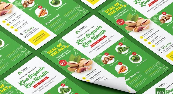 Рынок органических продуктов, Флаер со свежими продуктами