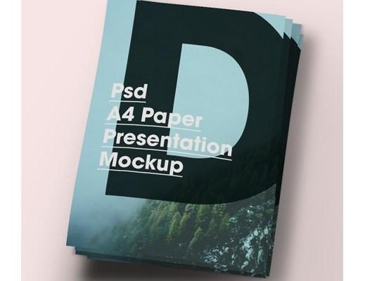 A4 Paper Brochure/Flyer Mock-Up PSD
