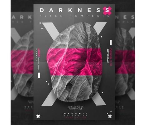 Creative dark event flyer Free Psd