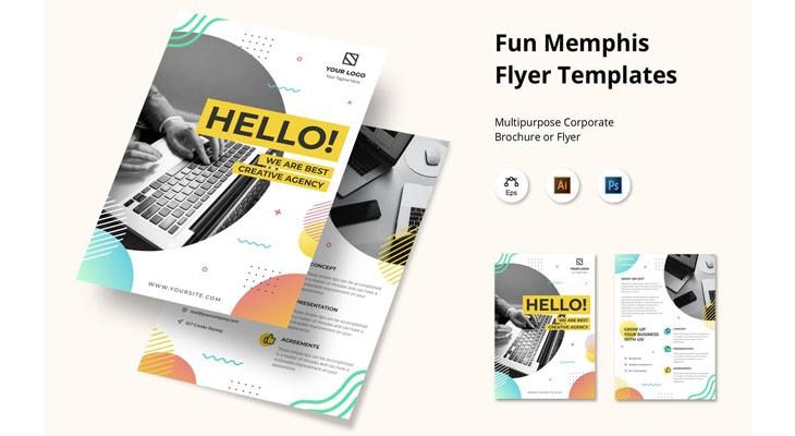 Fun Memphis Flyer Templates