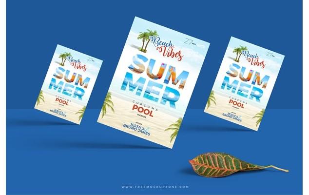 Free Stylish A4 Flyer Mockup PSD