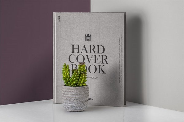 Psd Hardcover Book Catalog Mockup 4