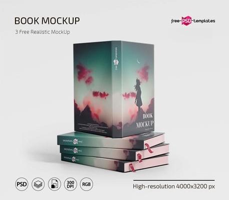 FREE BOOK MOCKUP IN PSD