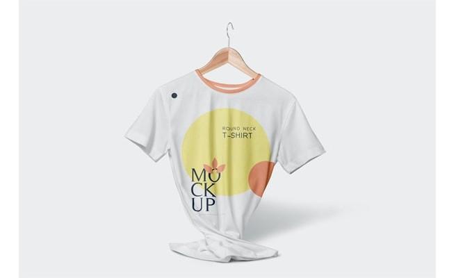 Макеты футболок круглым вырезом