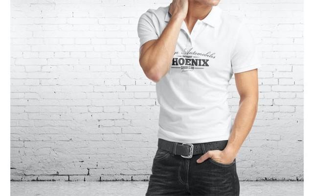Мужская рубашка поло Mock-Up