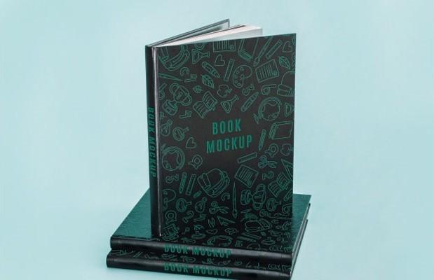 Dark book cover mockup