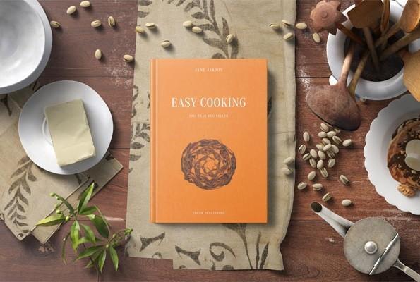 Cook Book Mockup - Kitchen Set