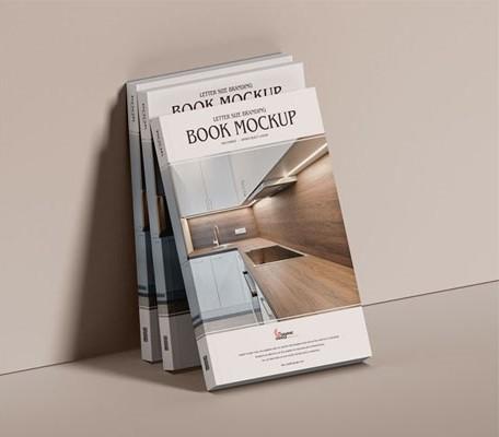 Free PSD Branding Modern Book Mockup