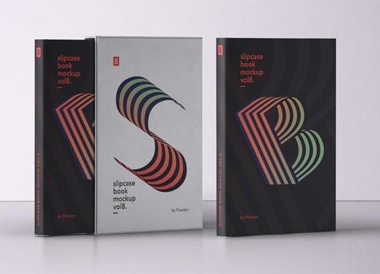 Free Slipcase Book Mockup PSD
