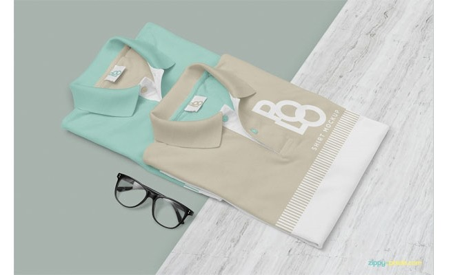 Free Stylish Polo Shirt Mockup PSD