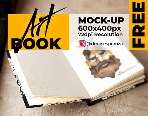 FREE - Sketch Book Realistic Mock-up