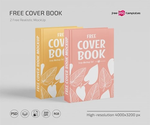 FREE BOOK COVER MOCKUP TEMPLATE IN PSD