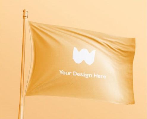 Banner flag mockup Free Psd