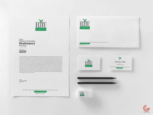 Free Modern Branding Stationery Mockup PSD 2018