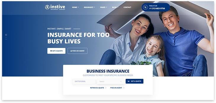 Шаблон сайта wordpress на тему страхования