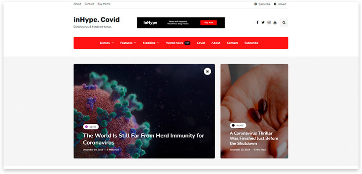 wordpress theme covid-19