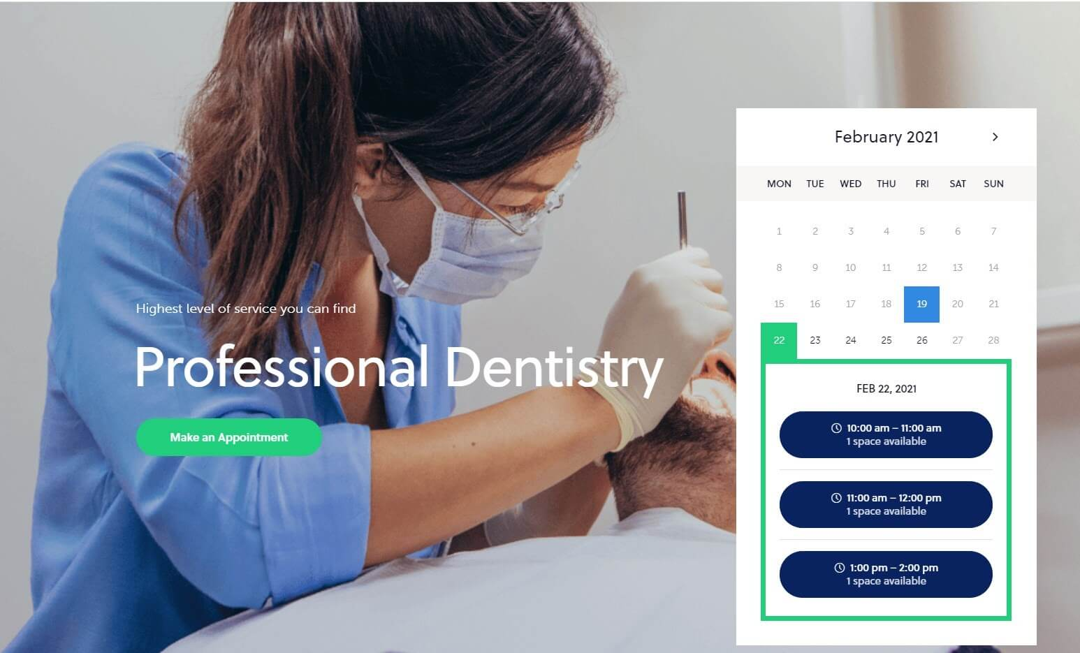 Демо сайта про стоматологию